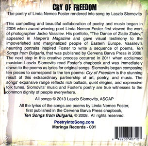 Cry of Freedom CD Back